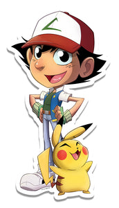 Ash and Pikachu Pokemon Sticker