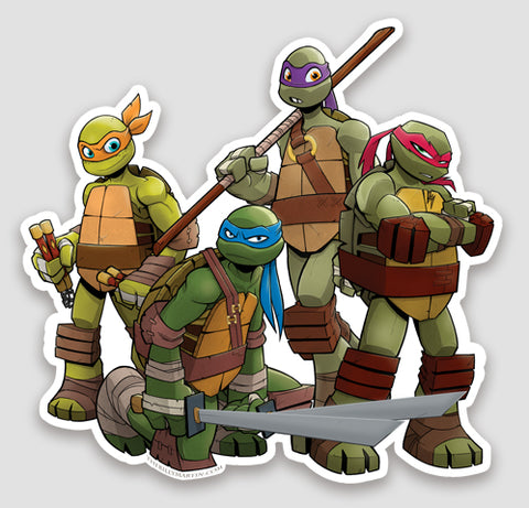 TMNT die cut Sticker