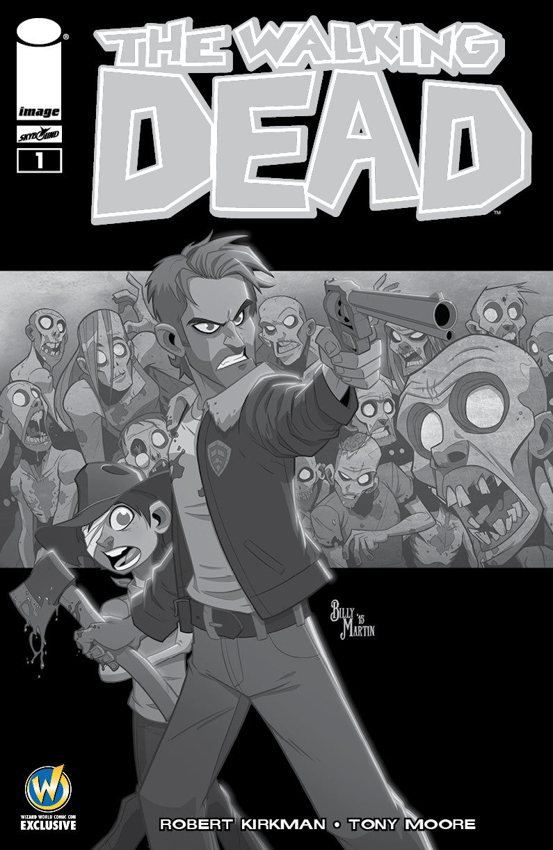 Walking Dead #1 Variant cover Wizard World Exclusive (Black & White)