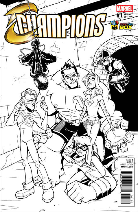 B/W Marvel Champions #1 Variant cover (signed)