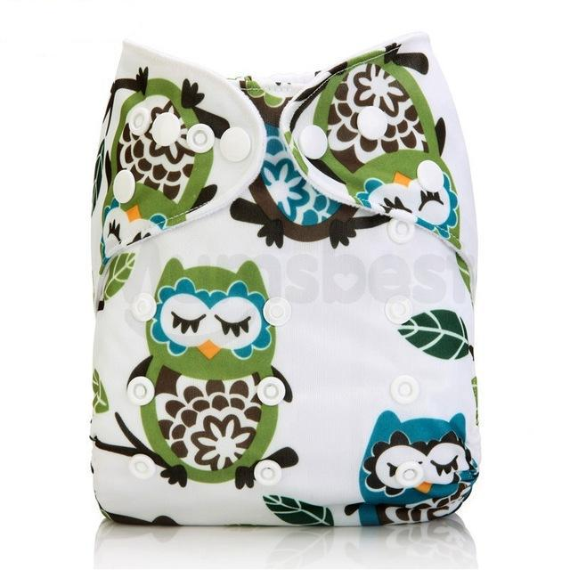 Happy Bumz Modern Cloth Nappy - Fun And Stylish - PUL - Creative Owls