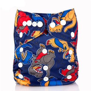 Happy Bumz Modern Cloth Nappy - Fun And Stylish - PUL - T-Rex Dinosaur