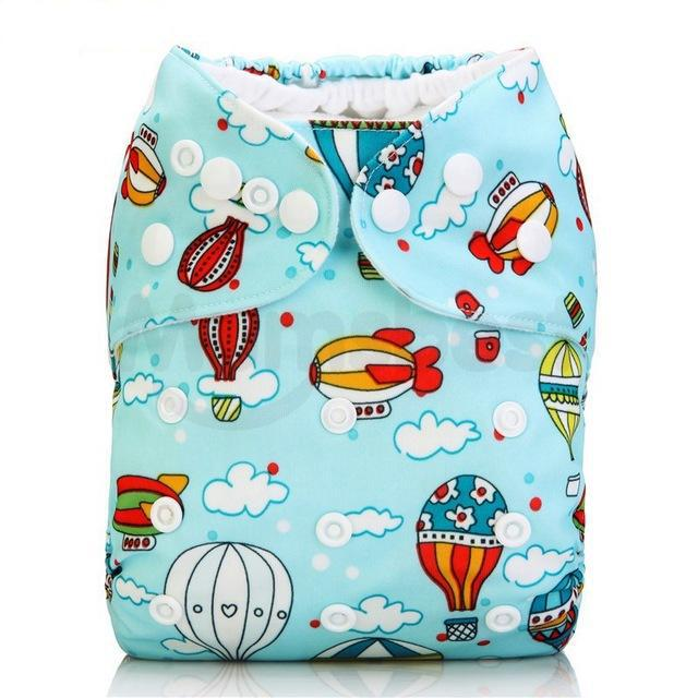 Happy Bumz Modern Cloth Nappy - Fun And Stylish - PUL - Hot Air Baloons