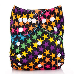Happy Bumz Modern Cloth Nappy - Fun And Stylish - PUL - Colour Stars