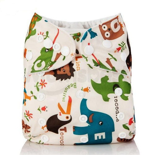 Happy Bumz Modern Cloth Nappy - Fun And Stylish - PUL - Wild Animals