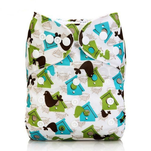 Happy Bumz Modern Cloth Nappy - Fun And Stylish - PUL - Bird House