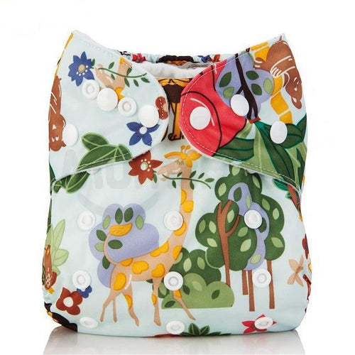 Happy Bumz Modern Cloth Nappy - Fun And Stylish - PUL - African Jungle