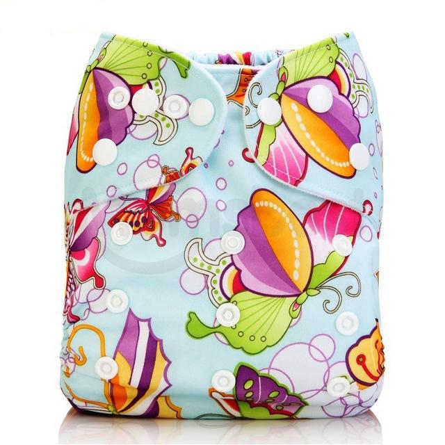Happy Bumz Modern Cloth Nappy - Fun And Stylish - PUL - Butterfly Colour