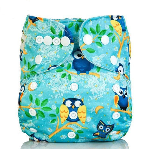 Happy Bumz Modern Cloth Nappy - Fun And Stylish - PUL - Baby Owls