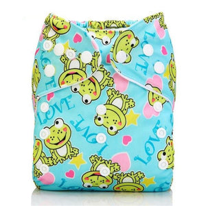 Happy Bumz Modern Cloth Nappy - Fun And Stylish - PUL - Frogs