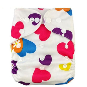 Happy Bumz Modern Cloth Nappy - Fun And Stylish - PUL - Happy Hearts