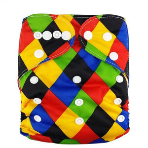Happy Bumz Modern Cloth Nappy - Fun And Stylish - PUL - Colour Checkers