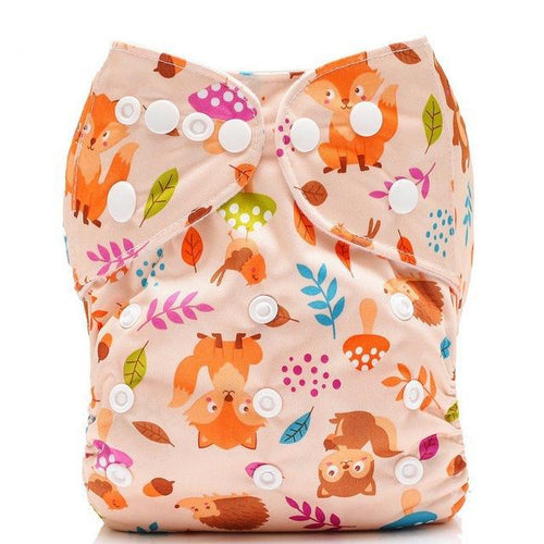 Happy Bumz Modern Cloth Nappy - Fun And Stylish - PUL - Peach Fox