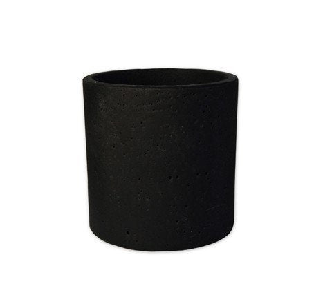 Black Concrete Pot