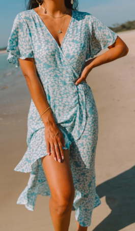 Isle De Pines Wrap Dress