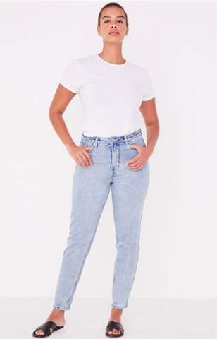 High Waist Flare Jean Pacific Blue