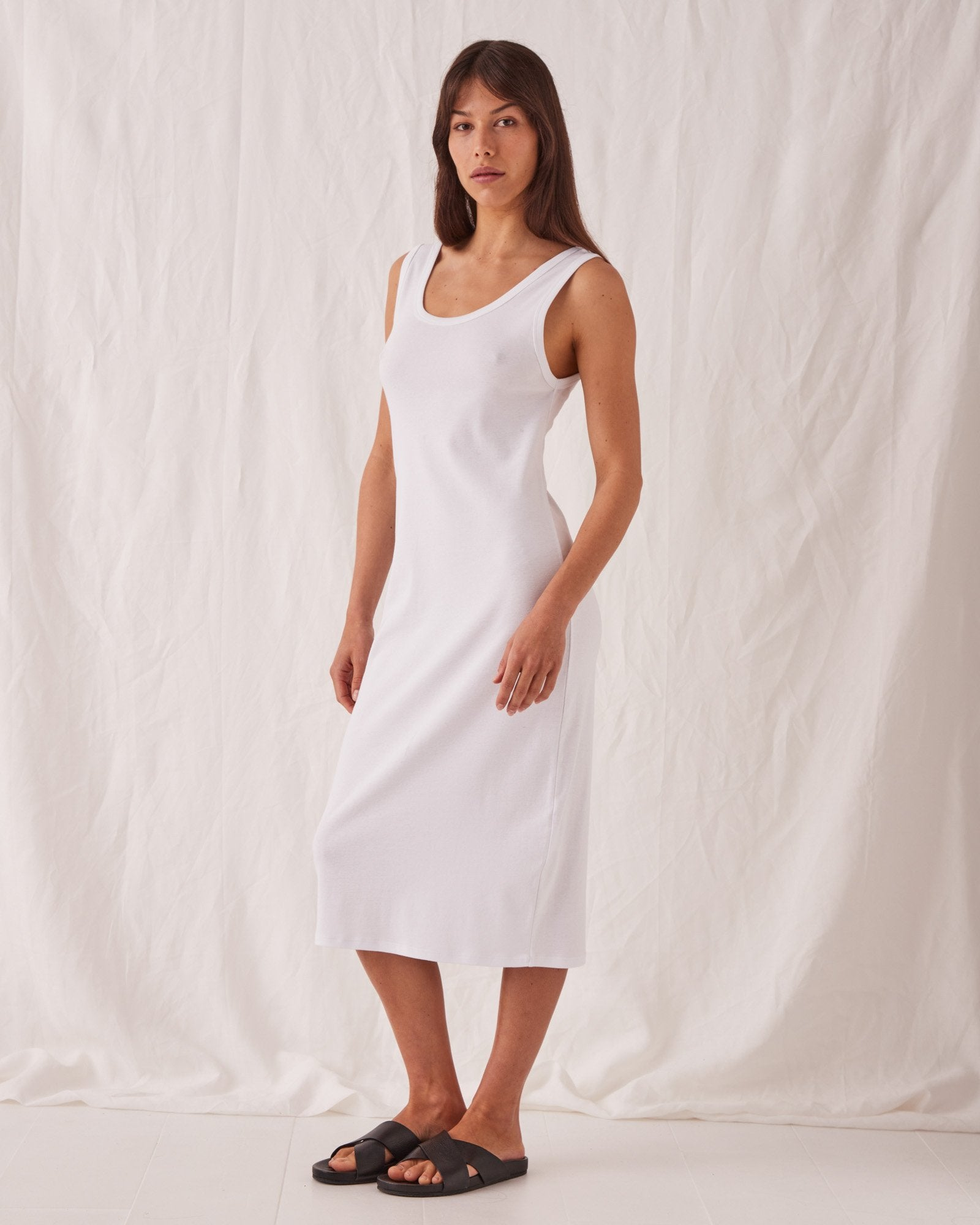 Kai Rib Dress White