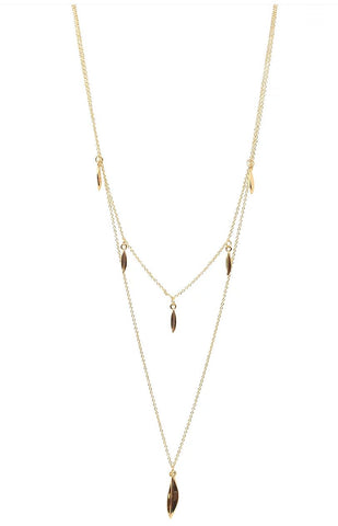 Illusion Fine Chain Crystal Necklace G