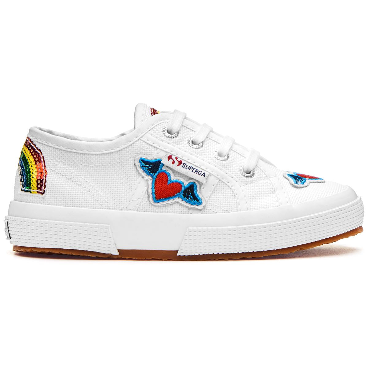 Kids Superga Rainbow Heart