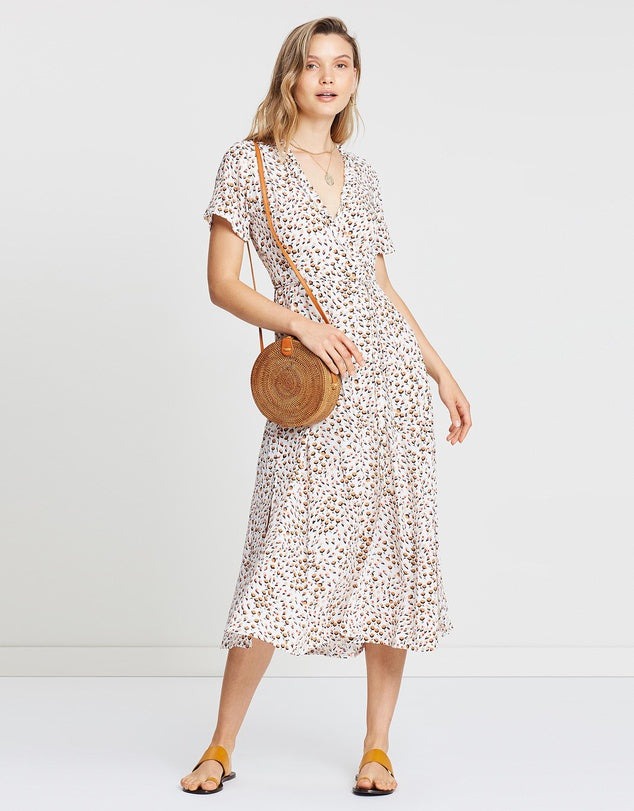 Mara Wrap Dress Sabine Floral Print