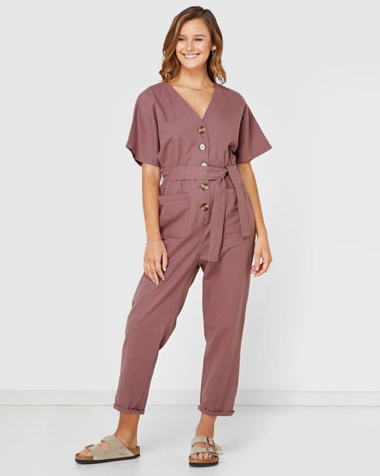 Tori Boiler Suit Dusty Pink