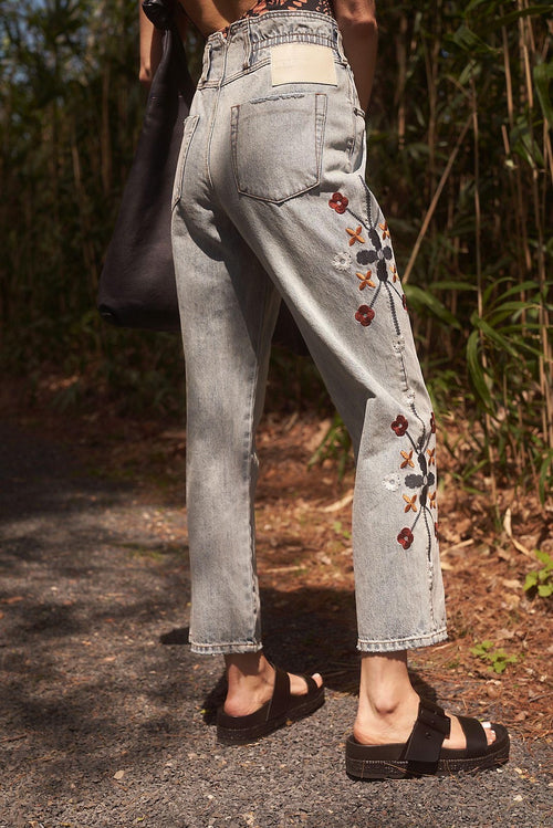 WoodStock Embroidered Pioneer Jeans