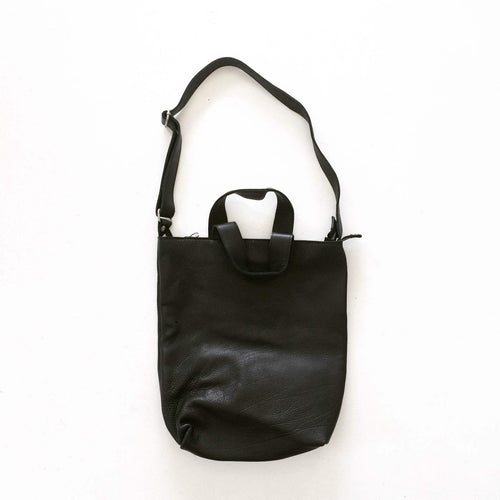 Royale Leather Tote Black