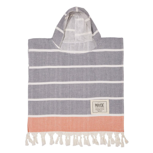 Kids Poncho Navy and Orange