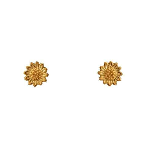 Gold Delicate Sunflower Studs