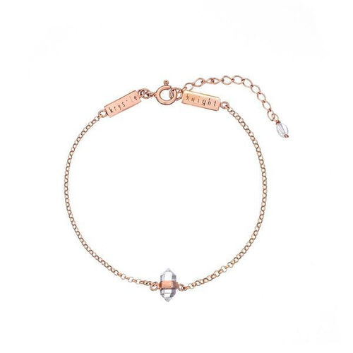 Calming Clear Quartz Bracelet Rose Gold