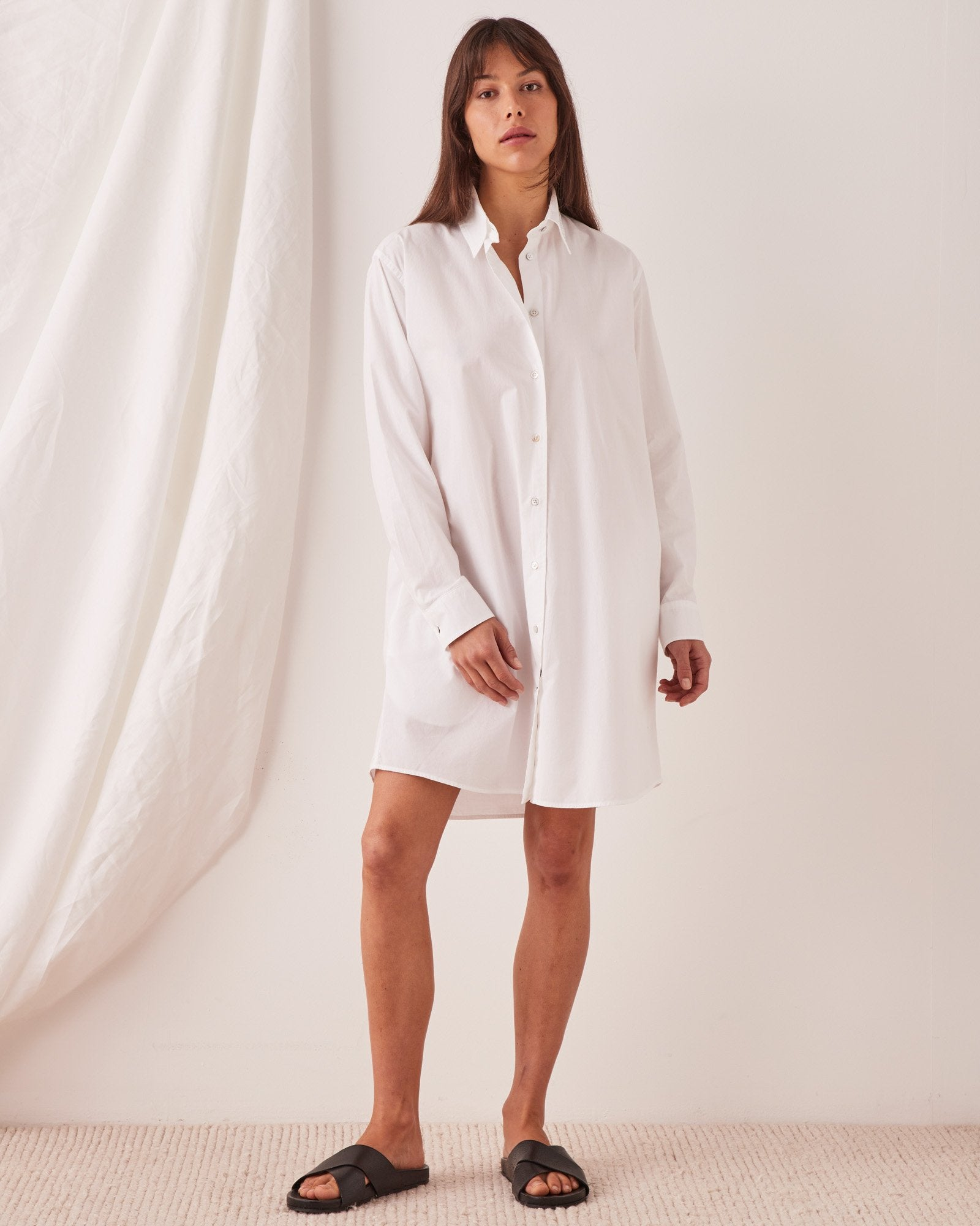 Pira Shirt Dress White