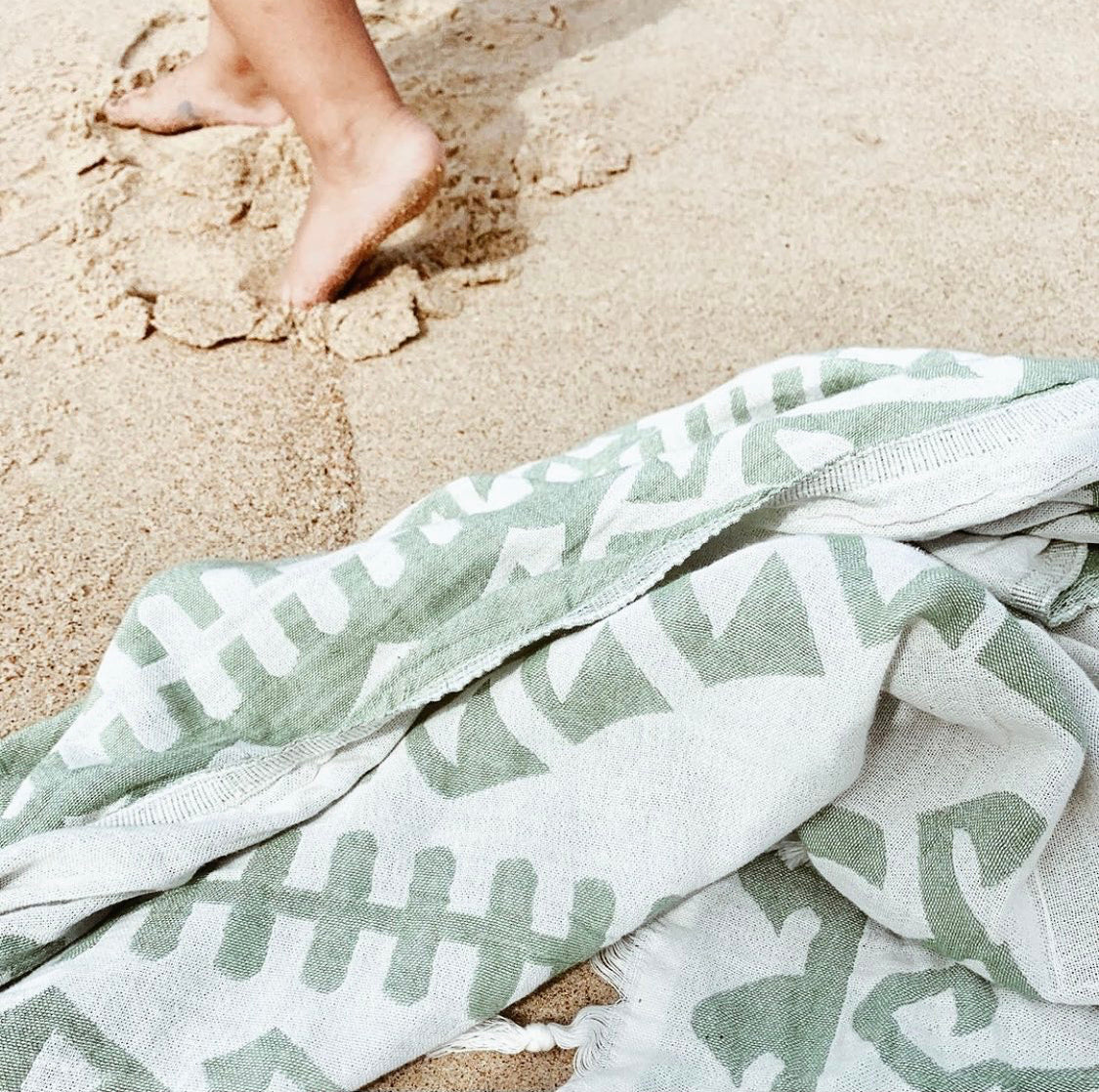 Aztec Towel Green