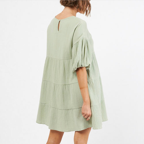 Clover Mini Dress Sage