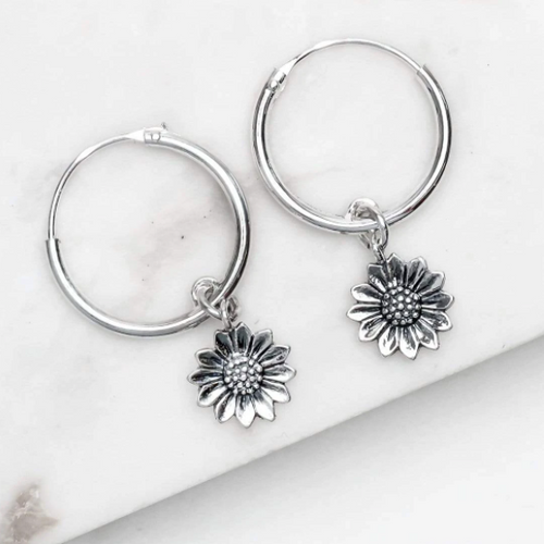 Silver Delicate Sunflower Sleepers