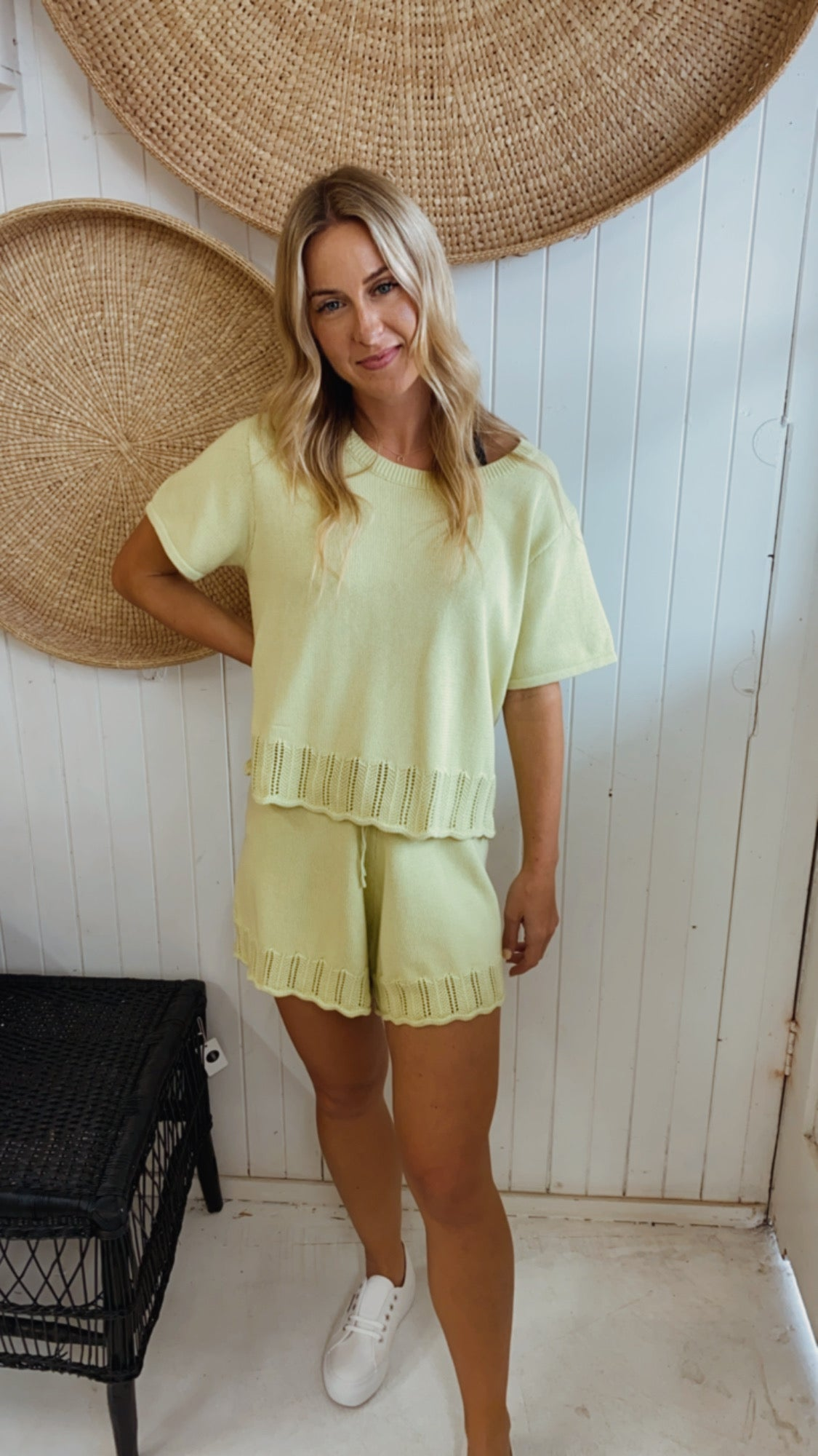Knit Shorts Lime
