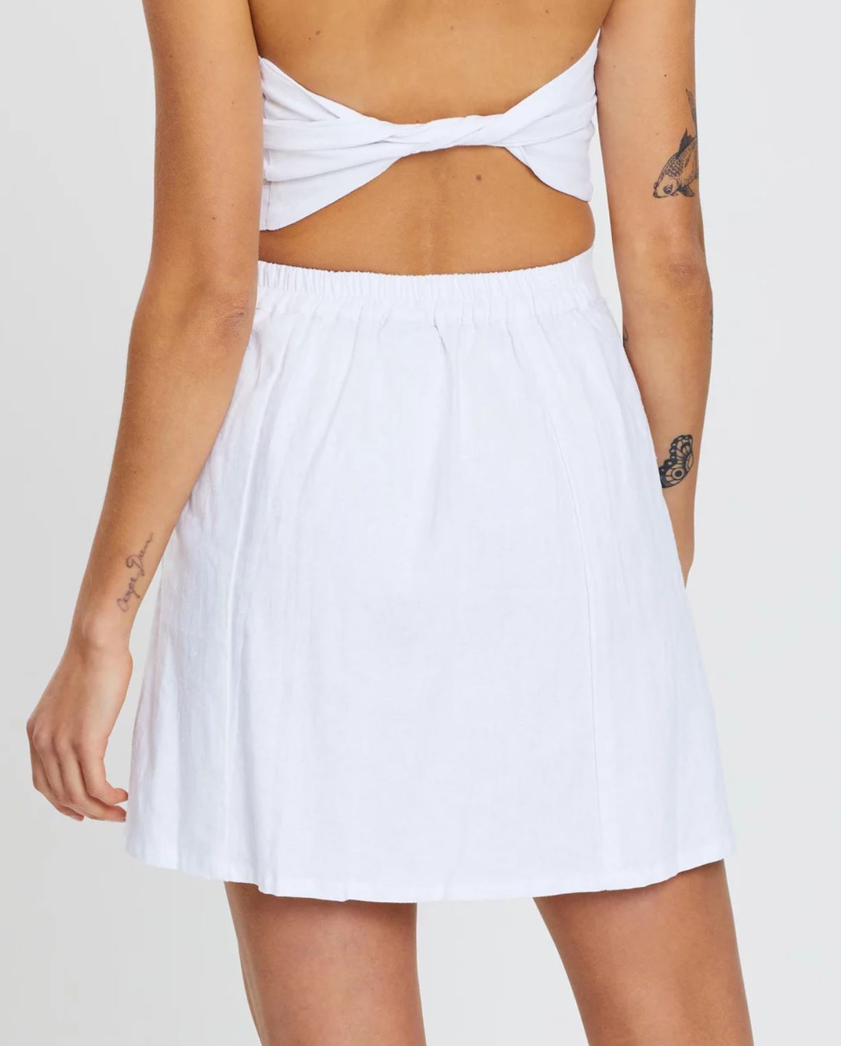 Lana Mini Skirt White