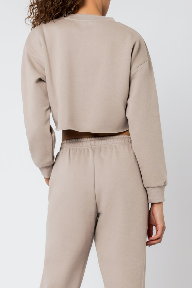 Carter Trackpant Taupe