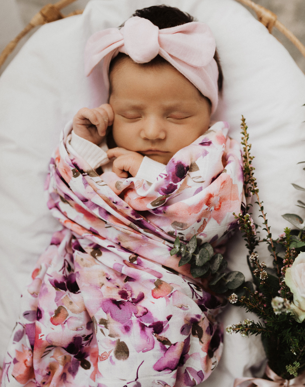 Blushing Beauty Organic Muslin Wraps