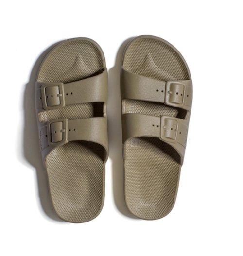 Kids Freedom Moses Slides Khaki
