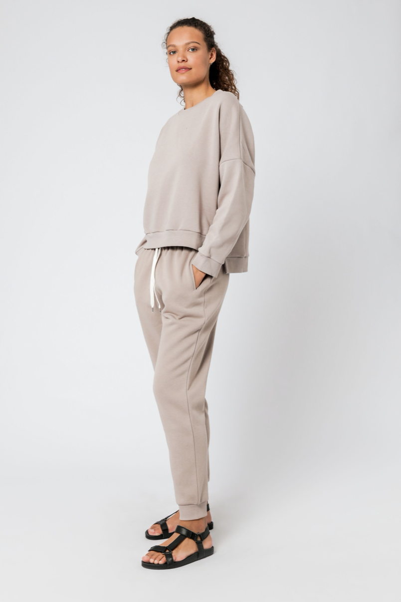Carter Oversized Sweat Taupe
