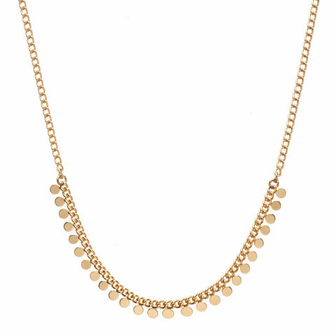 Illusion Fine Chain Crystal Necklace S