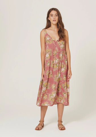 Abbey Midi Dress Clay Spot