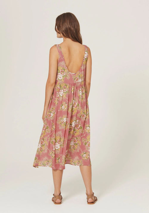 Bonnie Beachside Midi Dress Peach