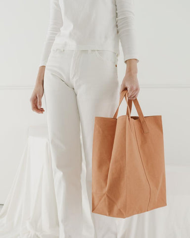 Canvas Market Tote Brown Paper