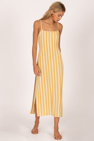 Piper Dress Sand Stripe