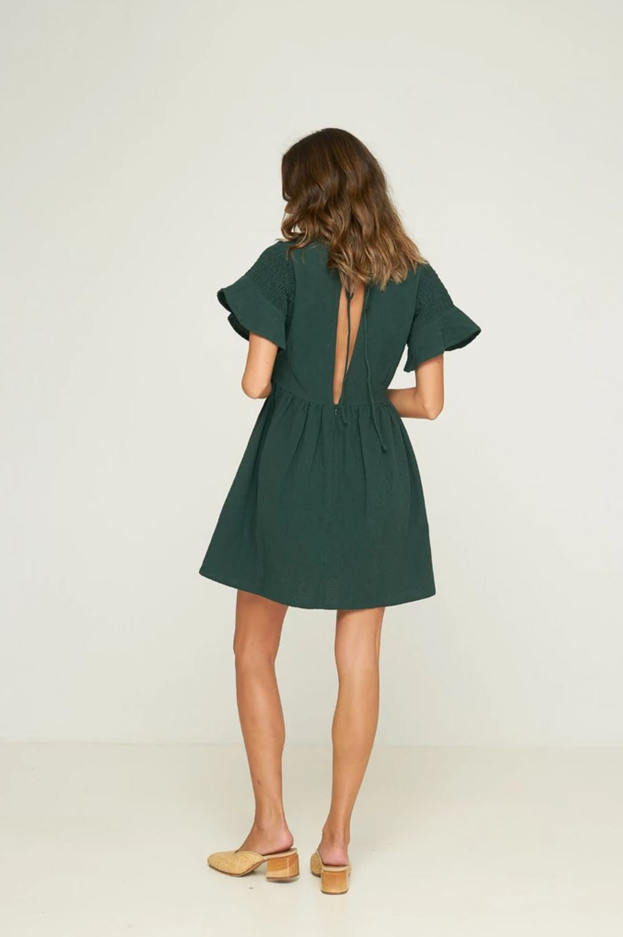 Kitty Mini Dress Emerald