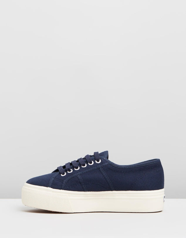 Navy Linea Up And Down Superga