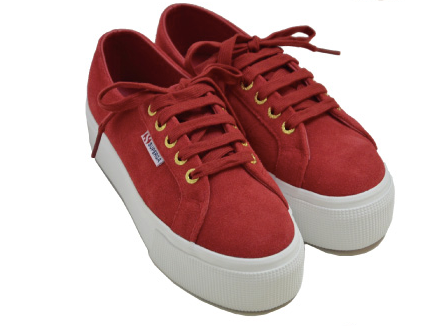 Superga Dark Red Suede