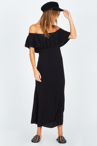 Driftwood Woven Dress Black