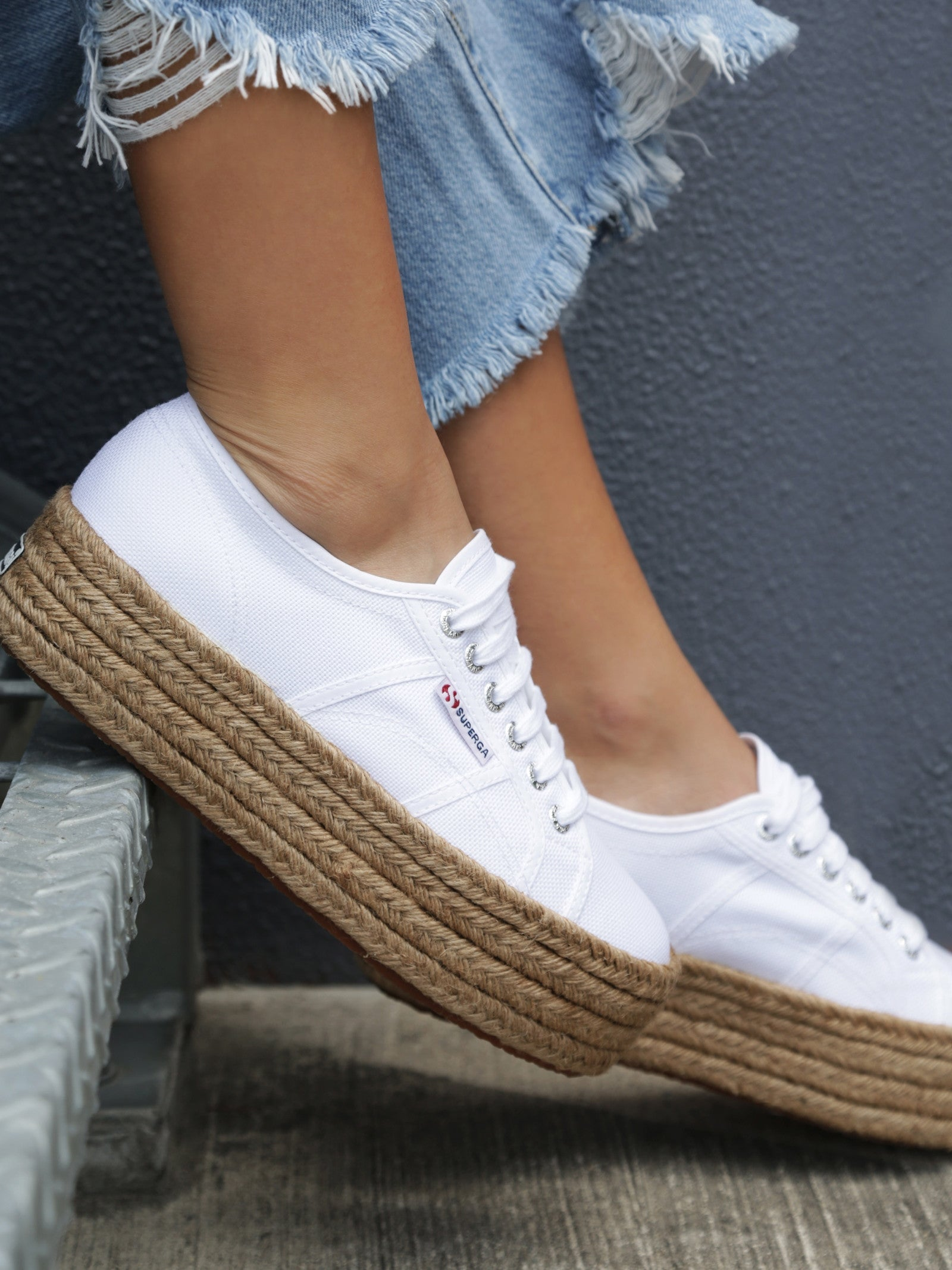 Superga Rope WhitePlatform